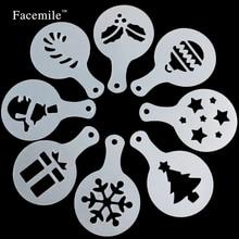 Пластиковые формы для выпечки Рождество Hollween трафарет для кофе кондитерский инструмент украшение из мастики для торта инструменты для украшения Форма для кексов