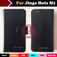 Hot!! Jinga Hotz M1 Case Factory Price 6 Color Leather Exclusive For 100% Special Cover Phone +Tracking