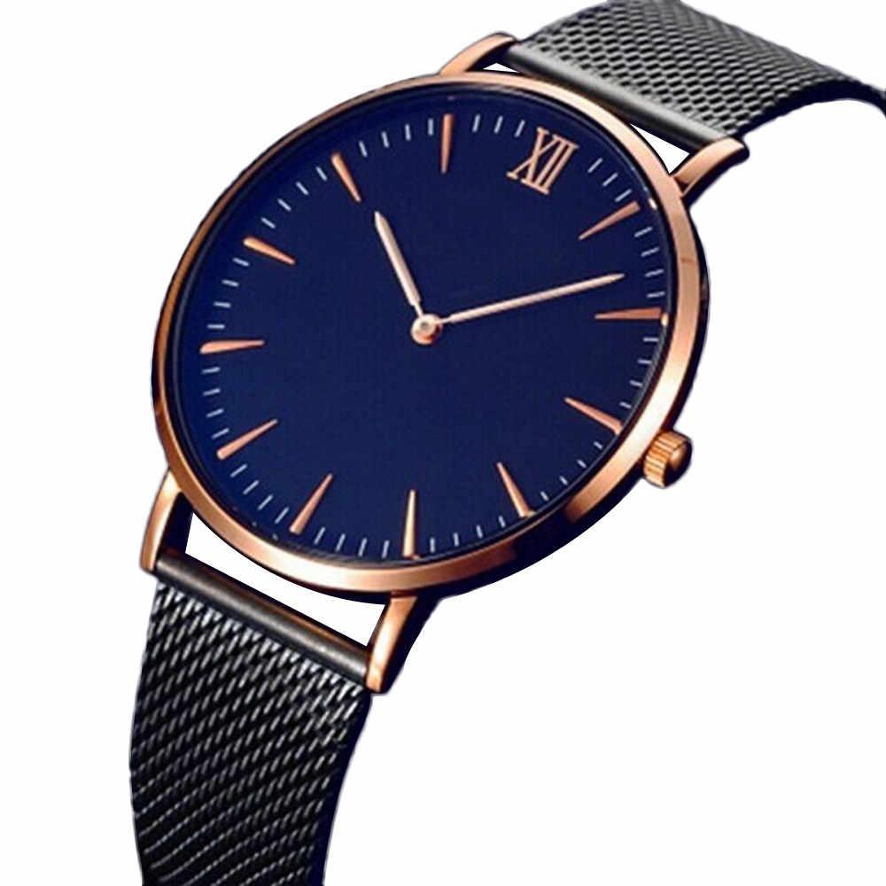 Orologio uomo 2017 Лидер продаж наручные часы для женщин и мужчин классический синий циферблат кварцевые наручные часы из нержавеющей стали люксовый бренд часы