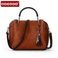 2017 New High Quality PU Leather Autumn Handbags Tassel Fashion Retro Bag Ladies Portable Shoulder Messenger