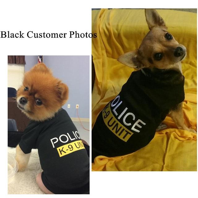 7bbab38e244f Maglia del cane Estate Pet Vestiti Del Cane Cucciolo di Chihuahua Dog T  shirt Polizia Abbigliamento