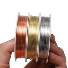 Fil de cuivre en alliage robuste, 1 rouleau de fil de cuivre 0.2 0.3 0.4 0.5 0.6 0.7 0.8mm, fournitures de fabrication artisanale pour accessoires de bijouterie, bricolage