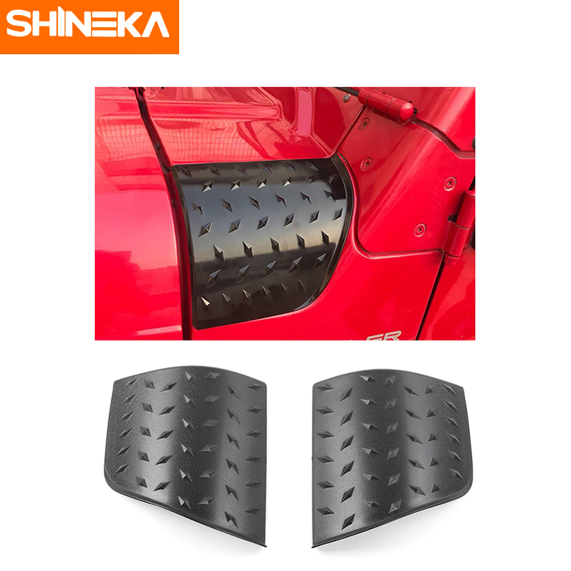 SHINEKA Car Styling Hood Angel Wrap Cover Engine Decoration Cover for Jeep Wrangler TJ 1997-2006 2 piece set locking hood look catch hood latches kit for jeep wrangler jk rubicon sahara unlimited 2007 2016