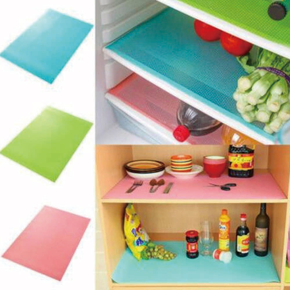 4 Pcs/set Silicone Refrigerator Pad Antibacterial Antifouling Mildew Moisture Absorption Pads Refrigerator Waterproof Mats
