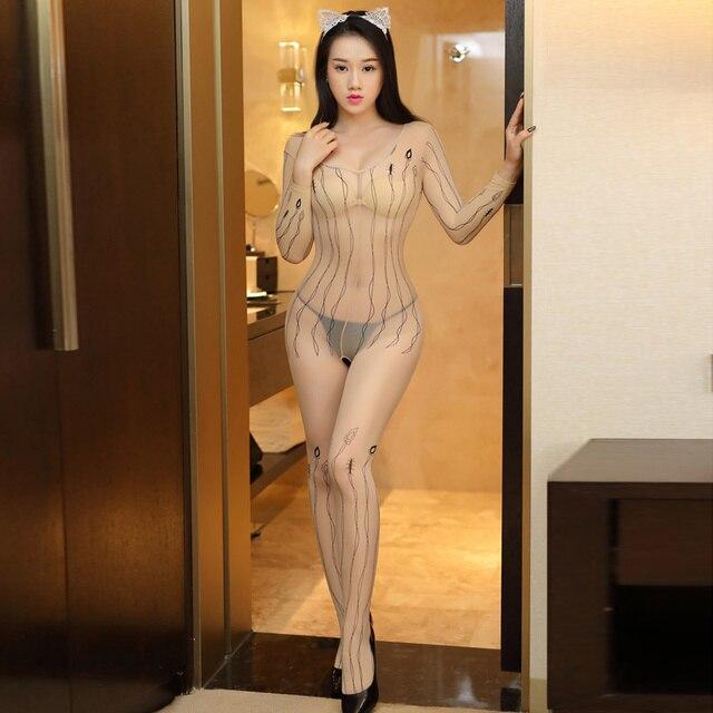 Sexy Lingerie Hot Women Transparent Porn Wear Open Crotch Sex Jumpsuits Erotic Lingerie Porno Underwear