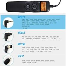 MC30 DC2 60E3 80N3 Remote Shutter Release Control cord for Canon Nikon
