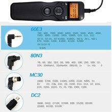 MC30 DC2 60E3 80N3 cabo Shutter Release Control Remoto para Canon Nikon