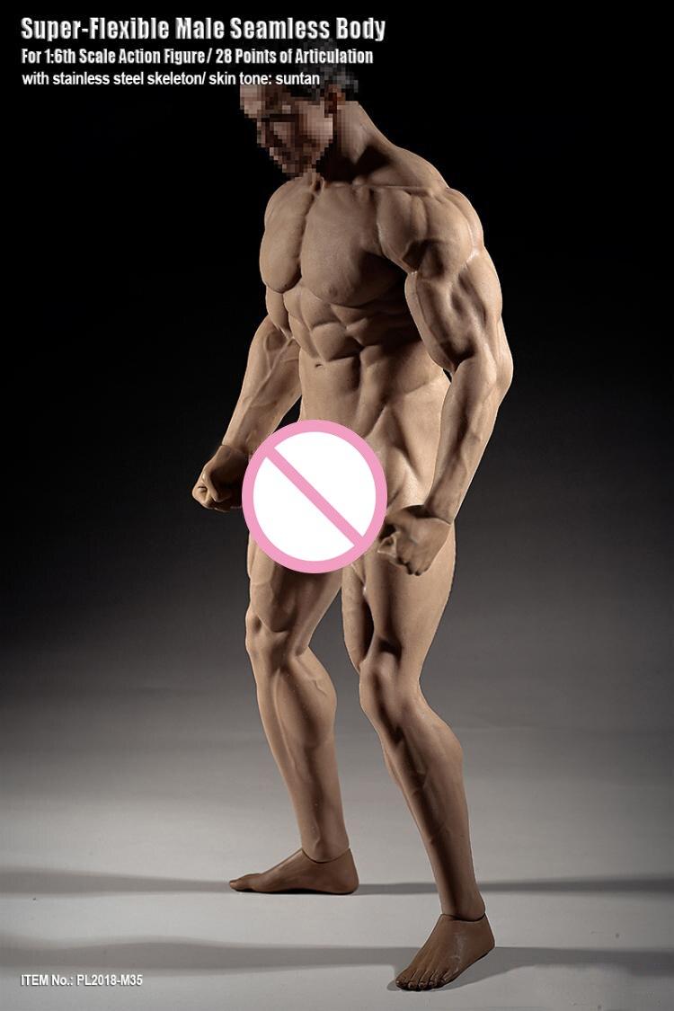 1//6 TBLeague M33 Flexible Seamless Male Muscular Figure Steel Skeleton U.S.A.