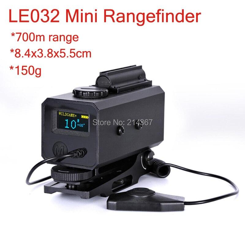 700 m Range finder con Regolabile Supporto di Portata per la Caccia Scope LE032 Telemetro Laser con 21mm Rail per Ottica tactical Gear
