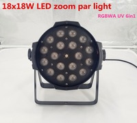 18x18w zoom par light dmx Controller dj par 64 rgbwa uv 24x18W 6in1 led par light for dj party disco Zoom 10 60 degree