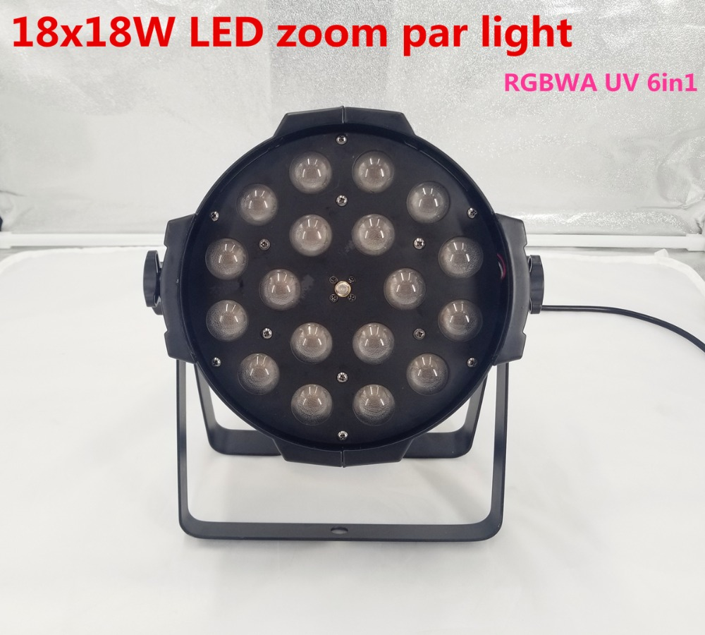 18x18w Zoom Par Light Dmx Controller Dj Par 64 Rgbwa Uv 24x18W 6in1 Led Par Light For Dj Party Disco Zoom  10-60 Degree