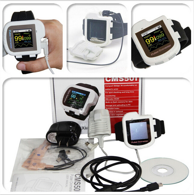 CMS50I Digital wrist pulse oximeter,spo2 monitor,finger pulse rate,blood oxygen oximetro