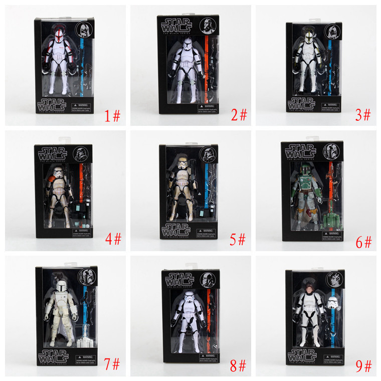 Star Wars The Force Awakens The Black Series Darth Maul Darth Vader Kylo Ren Captain Phasma Stormtrooper Boba Fett Figure Model play arts star wars the force awakens boba fett figure action figures gift toy collectibles model doll 204