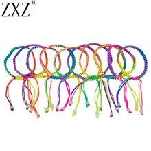 ZXZ 10 шт красочные ручной работы плетеный шнур нити дружбы браслеты украшения для лодыжки