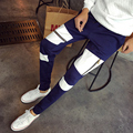 Casual Trousers harem Hip Hop Dance Pants teenage Black  plus size loose Patchwork Fake zipper mens skinny sweatpants