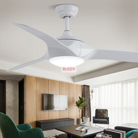 Fashion 52 inchtLED Ceiling Fans With Lights Remote Dimming Control living room bedroom home Ceiling Light Fan Lamp