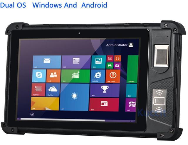Rugged Tablet Pc Dual Os Window 10 Android Fingerprint Reader Scanner Waterproof Phone 3g Gps 2gb