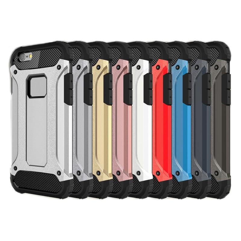 imágenes para Para el iphone de Apple 7 plus 6 6 S Samsung Galaxy S8 borde plus S8 + S7 Acero borde TPU armor PC cubiertas del teléfono celular casos