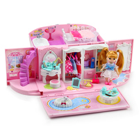 girls toys Diy handbag Doll House Miniature Model hand bag kids kitchen