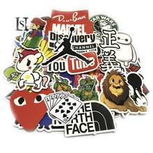 06A 50 100 Pieces Do Not Repeat PVC Waterproof Fun Name Sticker The Luggage Fashion Laptop