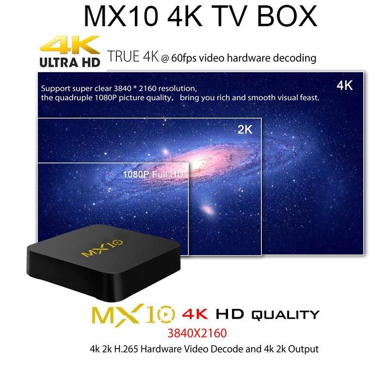 MX10 4K Android 8.1 tv box