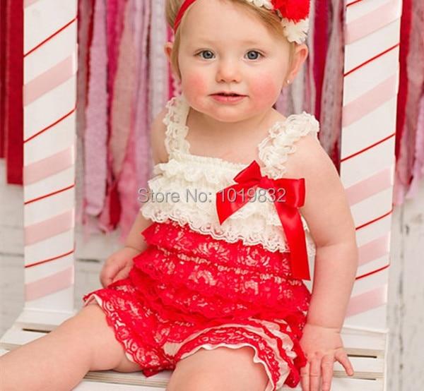 93b5403cbb1 Ivory Red Lace Romper