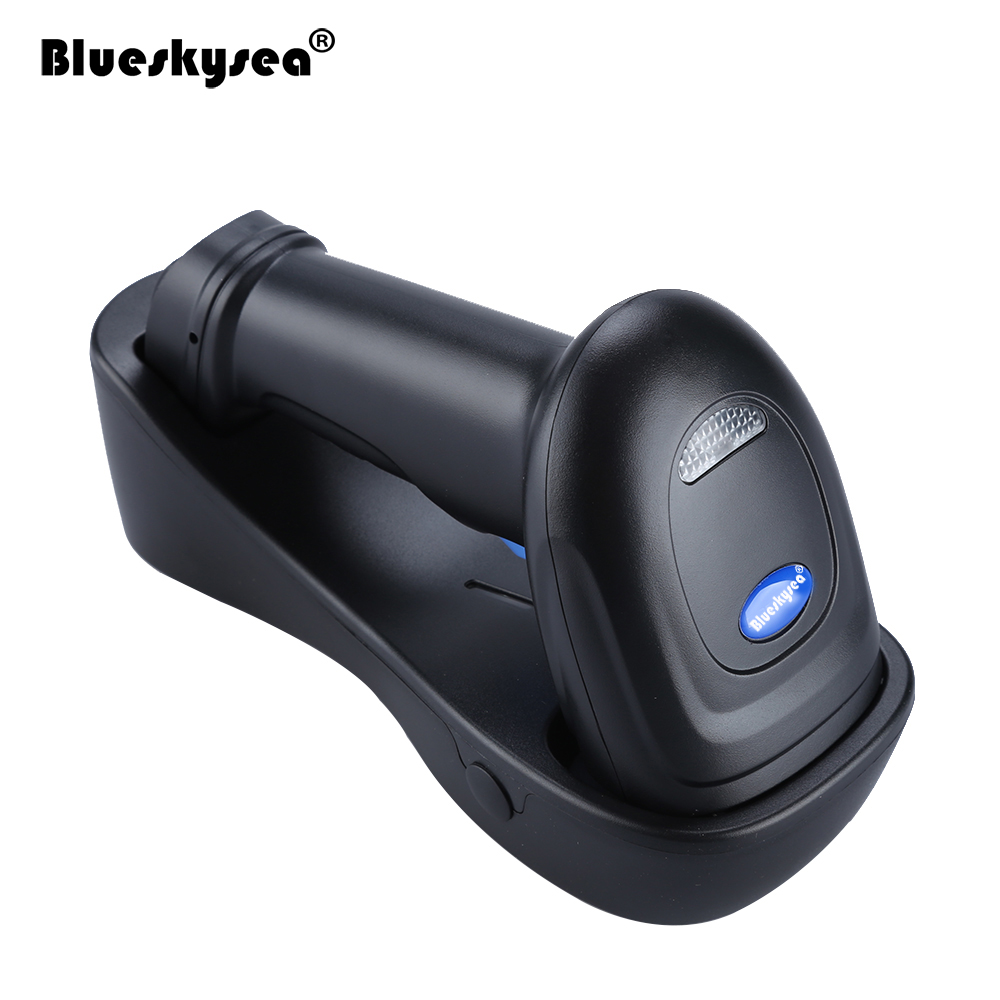 Blueskysea YK-WM3L 433 mhz PDF417 DataMatrix QR Code Lecteur 2D Haute Vitesse Sans Fil 1D 2D Barcode Scanner Pour Windows Mac IOS