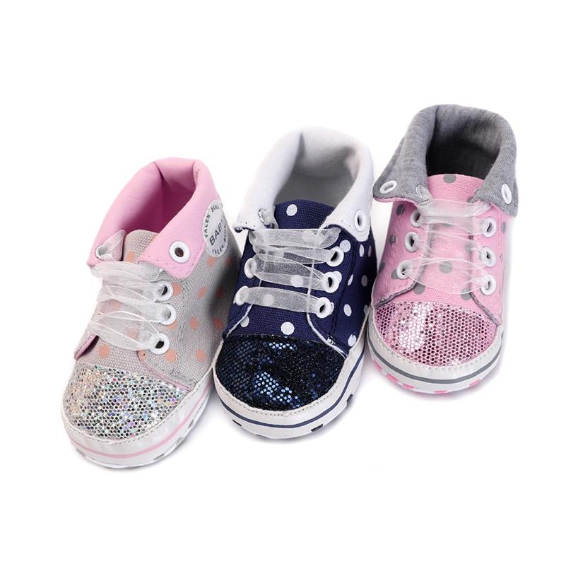 Baby boy girls shoes newborn moccasins summer canvas lace ...