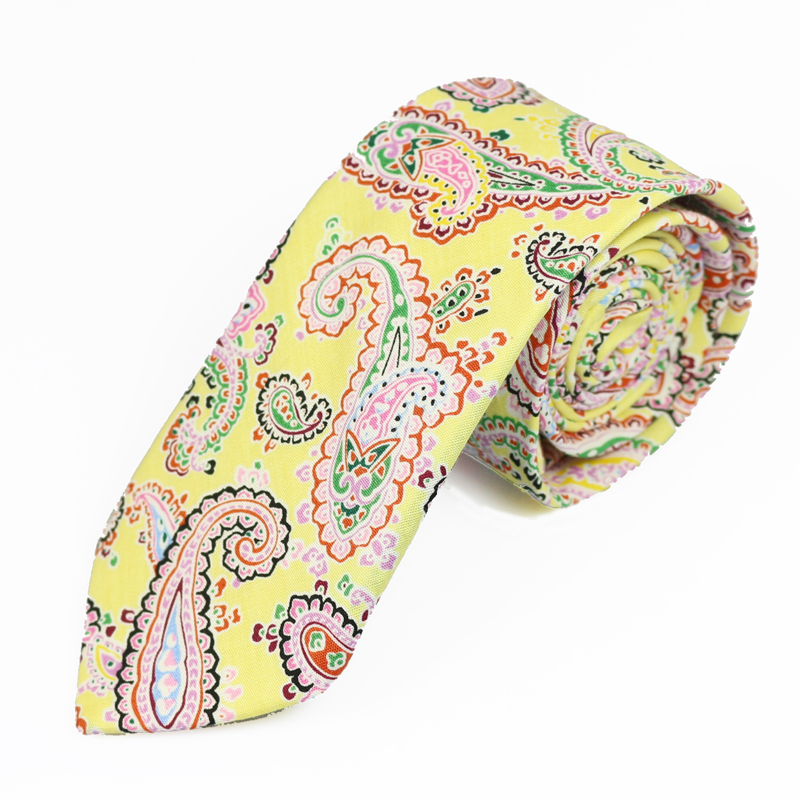 New 100% Cotton Ties For Men European fashion casual Cashew Flower Printed Mans Necktie 6cm Skinny Narrow Neckties Party Ties
