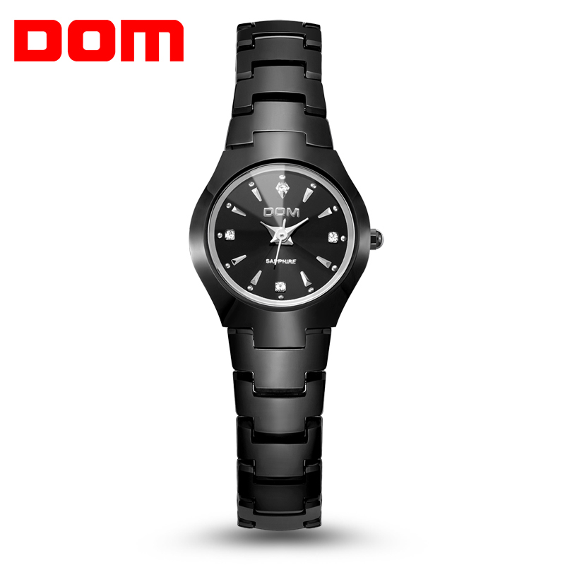 Watches women luxury brand Top Watch DOM quartz women wristwatches fashion casual watches sapphire Relogios Femininos  Free Ship