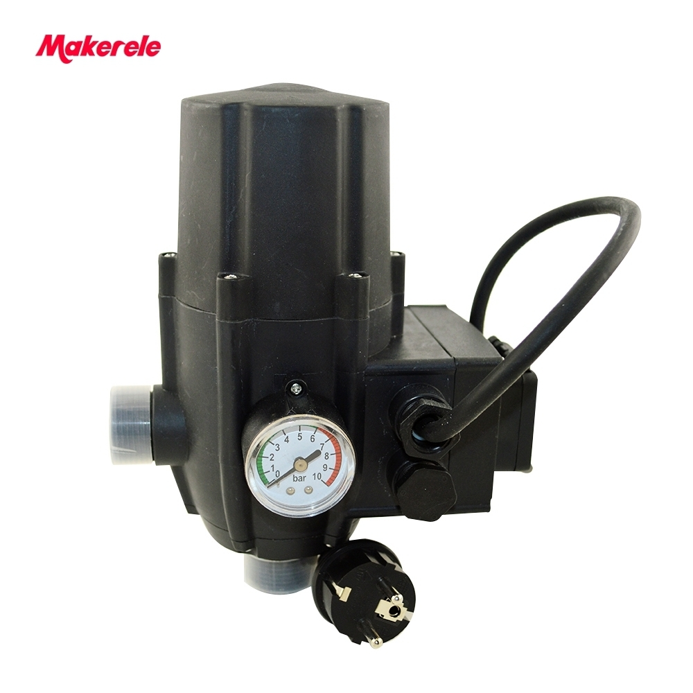 G1 Male Automatic Pump Pressure Controller Electronic Switch Control For Water Pump Plug Socket Wires CE Certificate MK-WPPS11 ac110 240v intelligent control switch electronic temperature automatic controller sensor for farming industry us plug
