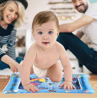 2019 New Inflatable Water Play Mat for Infants Toddlers Carpet Fun Tummy Time Baby Play Activity Playmat --FR/US/ES stock