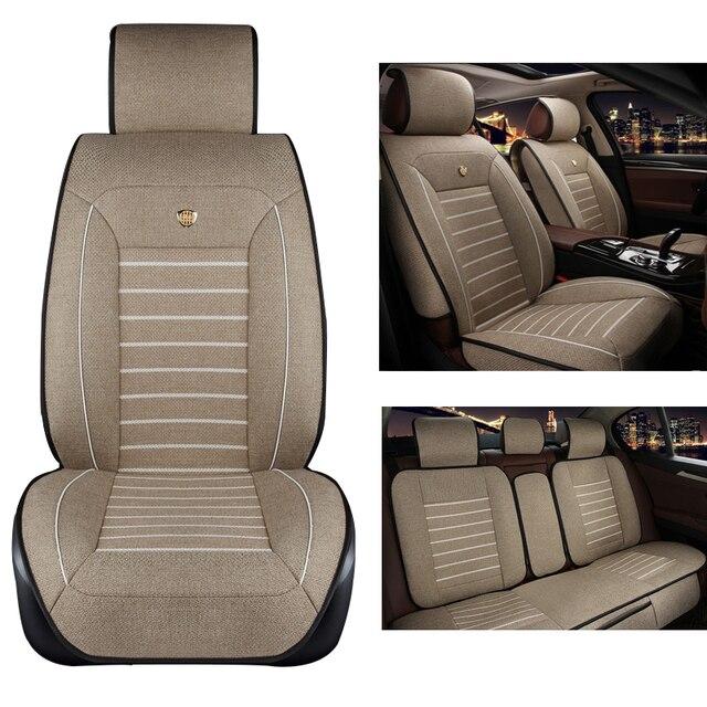 Asiento de coche de lino cubre Para Kia soul sportage cerato optima RIO sorento K2 K3 K4 K5 sorento Ceed coches accesorios styling