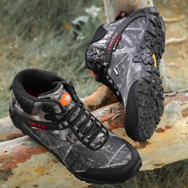 Plus Size 40 46 Outdoor Laarzen Mannen Werken Laarzen Nieuwe Winter Herfst Mode Camouflage Waterdichte Slijtvast Mannen laarzen Botas Hombre - 2