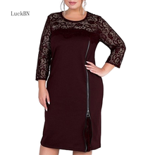 Women Dress 2019 Summer Plus Big Size Clothes Black Lace Elegant Office Lady Large Size Vestidos Bodycon Autumn Women Dresses сергей горяинов секретные алмазы сталина