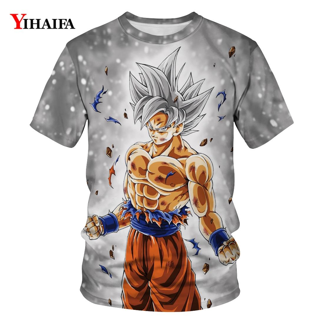 T Shirt Men Harajuku Dragon Ball Z T-shirt Figthing Goku 3D Printed T-shirts Mens Womens Casual Tees Unisex Tops