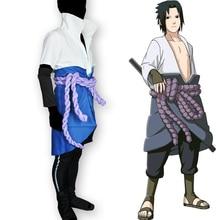 Calssic Anime Naruto Cosplay  Shippuden Uchiha Sasuke Costumes KSuit European Size Free Shipping