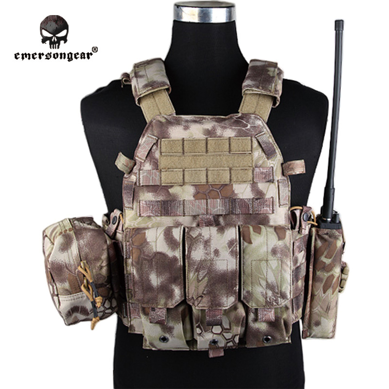 Emersongear LBT6094A Style Vest With Pouches Airsoft Painball Military Army Combat Gear EM7440L Highlander