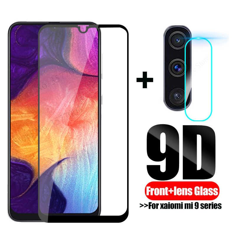 2 en 1, cristal templado 9D para samsung galaxy a10, a20, a30, a40, a50, película protectora de lente de cámara en el samsung a 30, 40 y 50 Glas