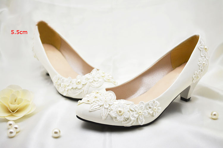 2016 Nicest Flower Girl Dress Shoes White Pearl wedding Bridal shoes Party Prom Wedding Anniversary Party