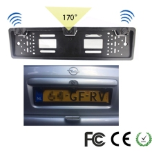 1 Car Rear View Camera + 2 Parking Sensor European License Plate Frame Auto Back in