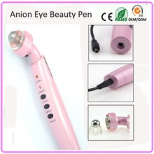 Negative Ion Infrared Red Color Photon Light Heating Warming Therapy Anti Aging Wrinkle Removal Eye Beauty Care Massager Pen