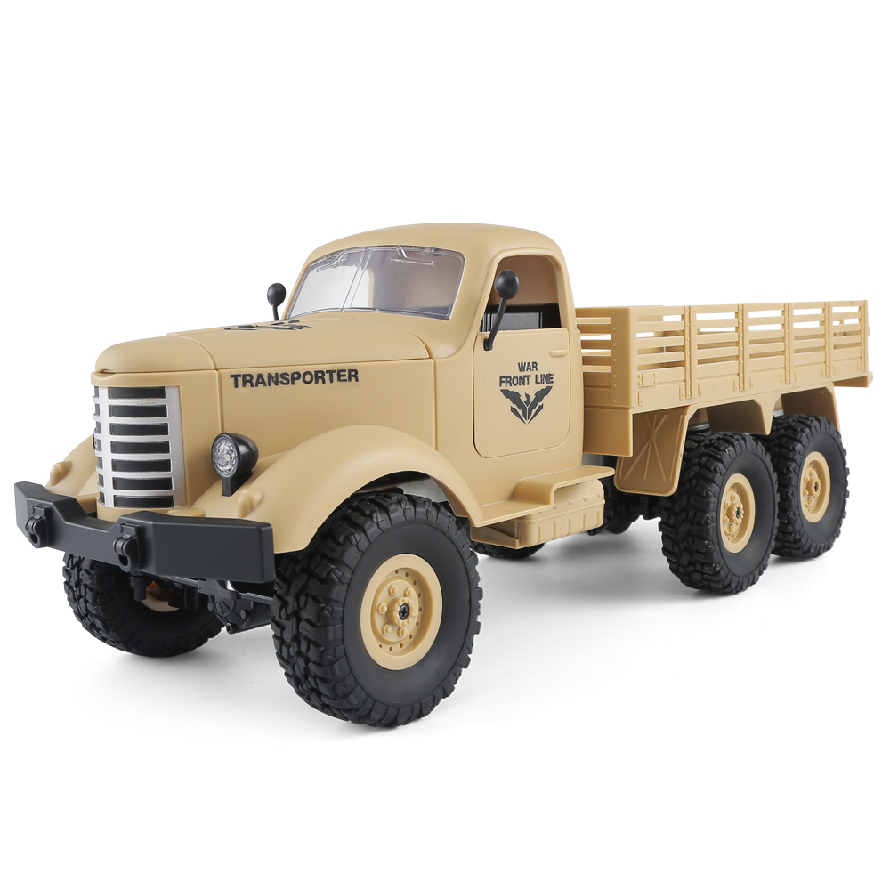JJRC Q60 6WD RC Military Truck Off-road Car Inclined Shock Absorbers / Speed Conversion RTR Best Gift for Children
