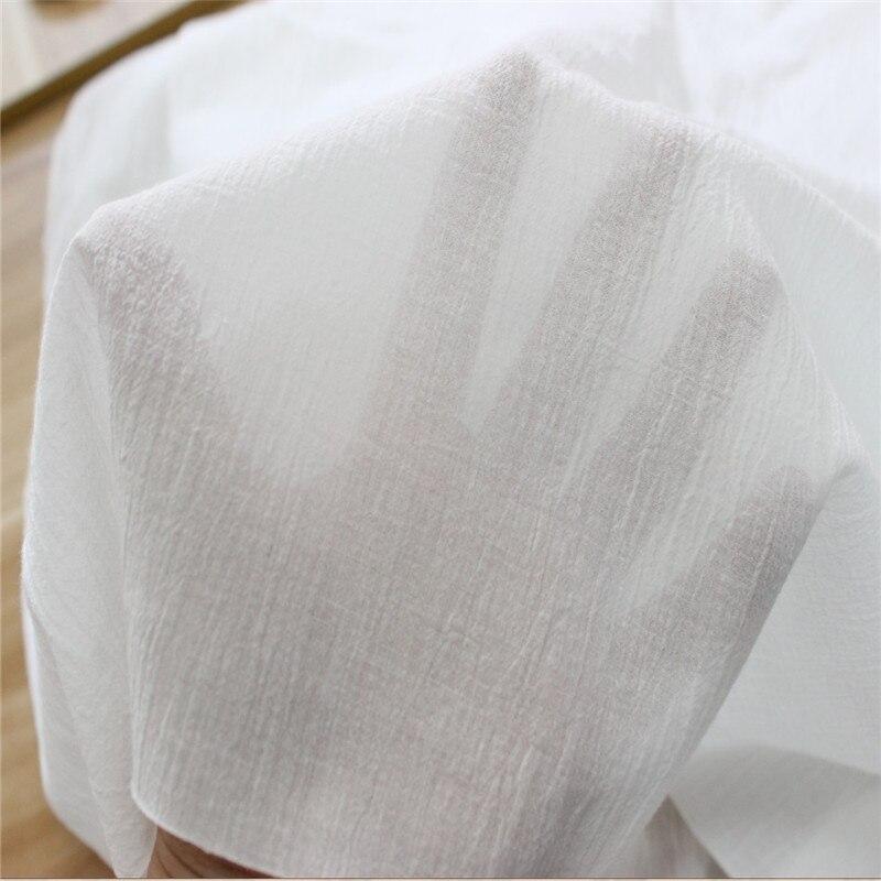 Tissu en crêpe de coton blanc tissu en crêpe tissu doux pour bébé travail manuel robe d'été vêtements Blouse tissu Tela