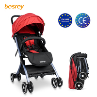 Besrey Baby stroller Lightweight stroller Foldable Small travel Airplane Carriage Newborn Capsule Pushchair Sitting and Lying