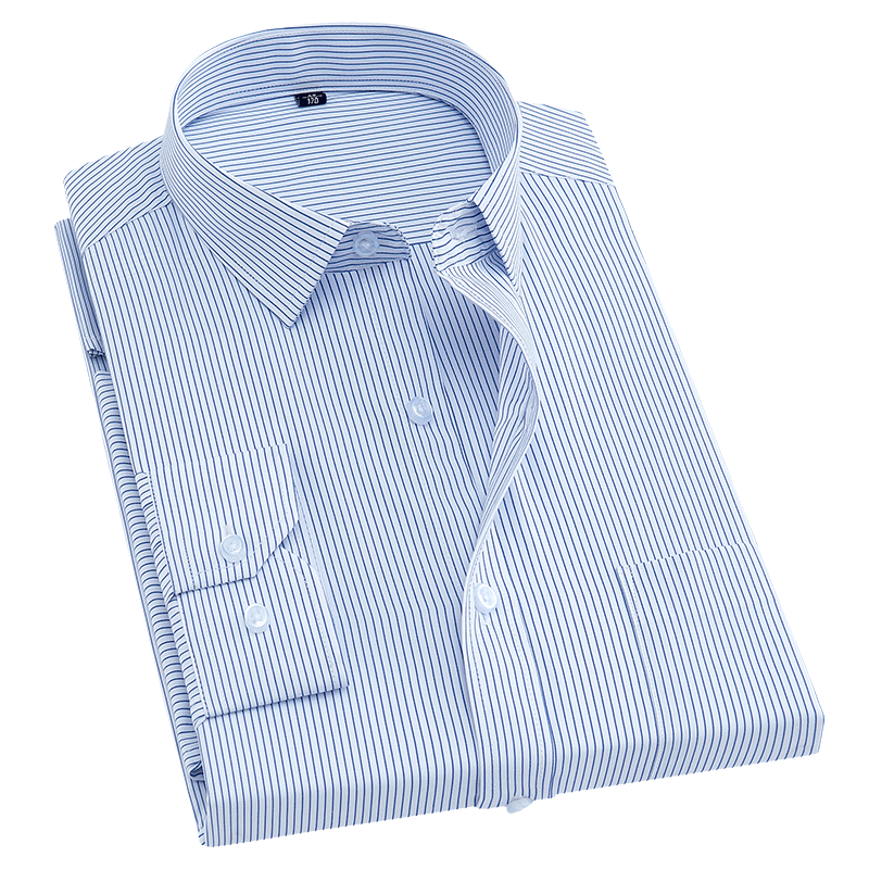 New Spring&Autumn Mens Striped Dress Shirts Brand Leisure Style long sleeve Casual Business Social Shirts male works clothing
