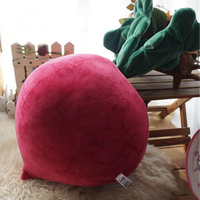 Fancytrader 75cm 30inch Giant Plush Emulational Radish Toy Lovely Red Vegetables School Theatrical Props