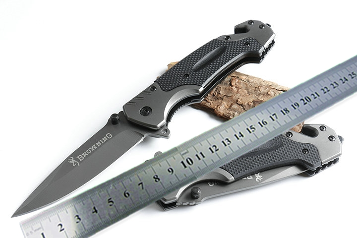 Browning FA18 survival folding knife 5CR13MOV blade steel G10 handle camping hunting pocket rescue knives titanium coat tools outdoor multifunction camping tools axe aluminum folding tomahawk axe fire fighting rescue survival hatchet
