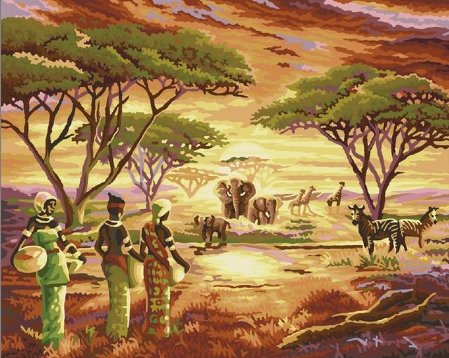 Sin marco paisaje 4050 cuadro en lienzo bricolaje pintura al óleo ...