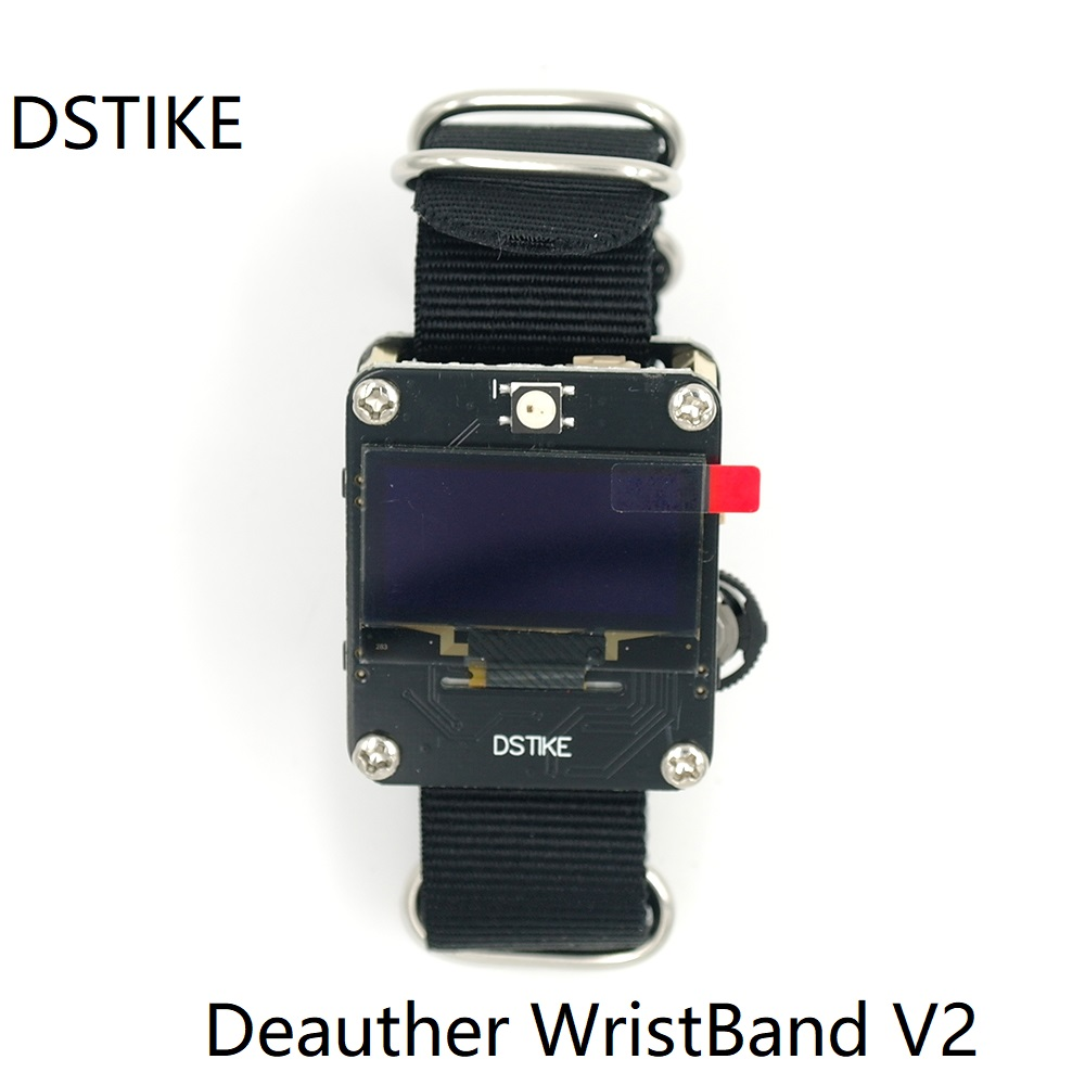Dstike Deauther Wristband V2 Wifi Assault/hack Esp8266 Arduino Good Watch Wearable Growth Mi Band Apple Watch Google Residence
